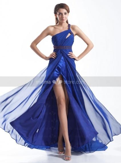 AMAYA - Evening dresses Cheap Princess Chapel train Chiffon One shoulder Occasion dress