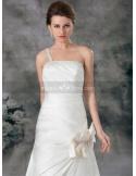 EILEEN - A-line Strapless Cheap Floor length Satin Wedding dress