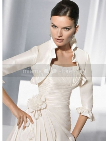 3/4-Length Taffeta Bridal jacket Wedding wrap