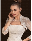 3/4-Length Organza Bridal jacket Wedding wrap