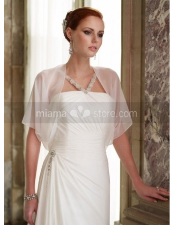 Half Sleeves Chiffon Bridal jacket Wedding wrap