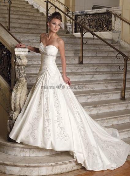 GIORGIA - A-line Sweetheart Chapel train Taffeta Wedding dress