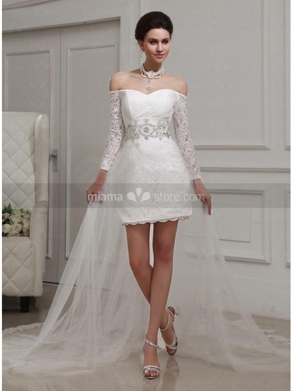 66ffe17b3e7 IWEMEK Girls Tulle Lace Flower Wedding Bridesmaid Dress Floor Length Half Sleeve  Princess Long A Line