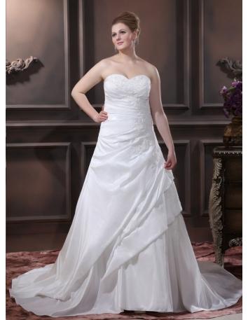BABETTE - A-line Sweetheart Chapel train Taffeta Wedding dress
