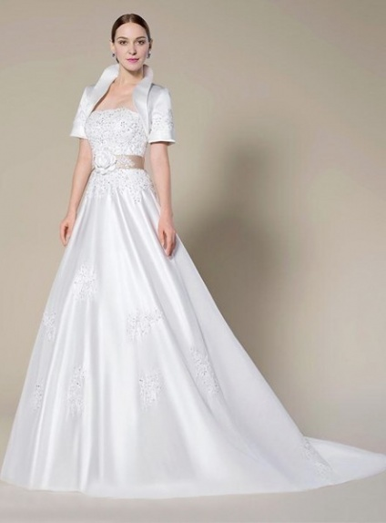 Satin Empire Waist Wedding Dress