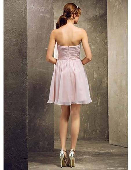 TINA - Bridesmaid Cheap A-line Short/Mini Chiffon Sweetheart Wedding party dresses