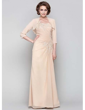 NIKI - Mother of the bride Cheap Sheath/Column Floor length Chiffon One shoulder Wedding party dresses