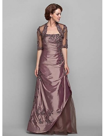 ANN - Mother of the bride Cheap A-line Floor length Taffeta Strapless Wedding party dresses
