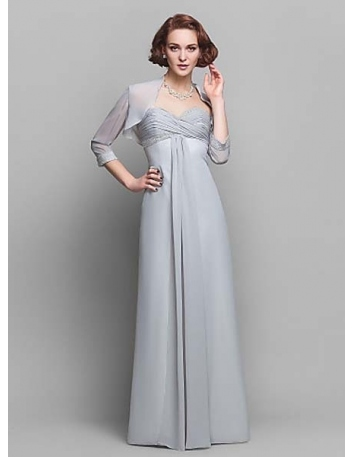 JUDY - Mother of the bride Cheap Sheath/Column Floor length Chiffon Sweetheart Wedding party dresses
