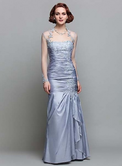 APRIL - Mother of the bride Cheap Trumpet/Mermaid Floor length Taffeta Strapless Wedding party dresses
