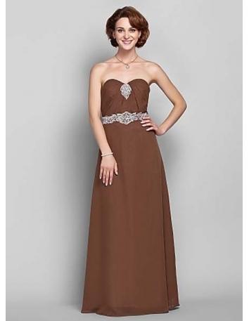 ELENA - Mother of the bride Cheap Sheath/Column Floor length Chiffon Sweetheart Wedding party dresses