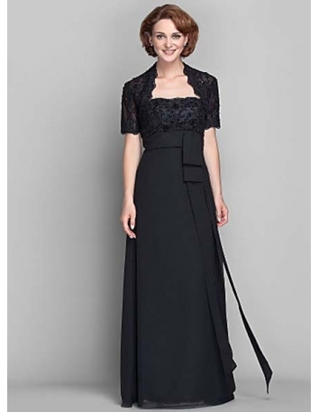 JOYCE - Mother of the bride Cheap Sheath/Column Floor length Chiffon Strapless Wedding party dresses