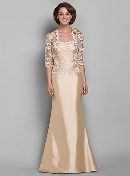 Mother of the bride cheap trumpet mermaid floor length for Dresses for 50th wedding anniversary party