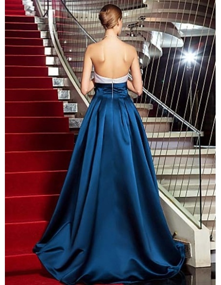 MARTA - Evening dresses A-line Asymmetrical Satin Strapless Occasion dress