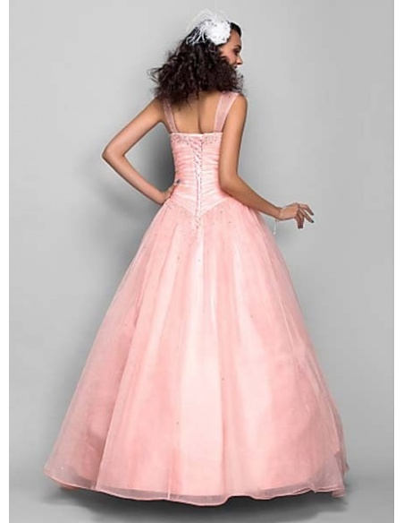 ADRIANA - Quinceanera dresses Ball gown Floor length Organza V-neck Occasion dresses