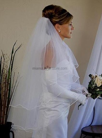 Three layers Elbow Wedding veil