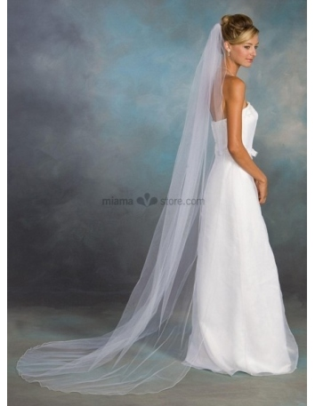 One layer Cathedral Wedding veil