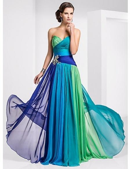 MIRABELLE - Evening dresses A-line Chapel train Chiffon Sweetheart Occasion dress