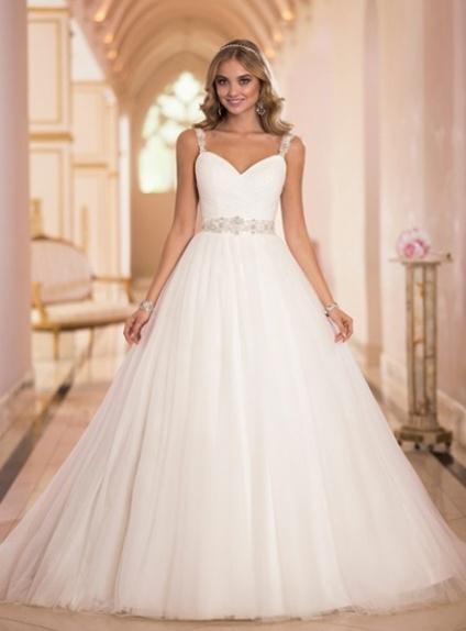 Spaghetti Strap Empire Waist Wedding Dress