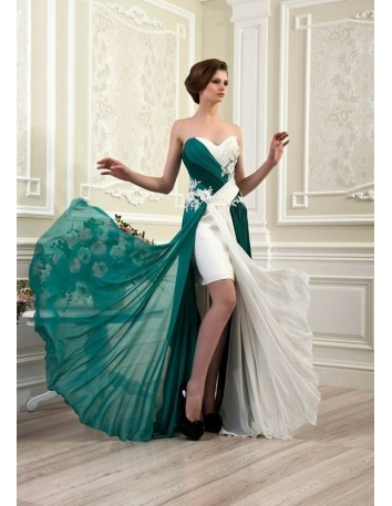 YOSHUA - Beautiful bridesmaid dress in chiffon and lace