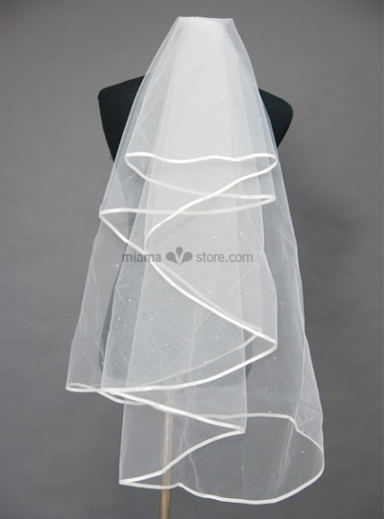 Three layers Elbow Beading Wedding veil