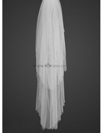 Two layers Elbow Tubes Wedding veil