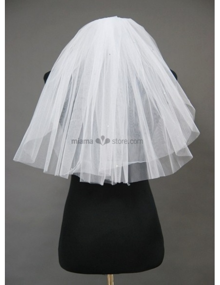 Two layers Elbow Wedding veil
