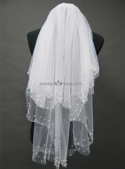 Three layers Elbow Beading Wedding veil