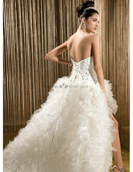 MIA - Short Sweetheart A-line Asymmetrical Tulle Wedding dress