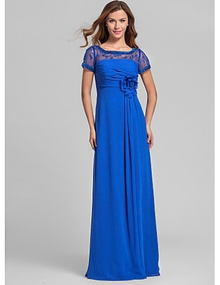 POLLY - Bridesmaid Cheap A-line Floor length Chiffon Square neck Wedding party dresses