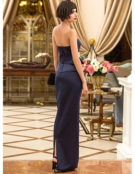 KATRINA - Evening dresses Cheap Sheath/Column Floor length Satin Sweetheart Occasion dress