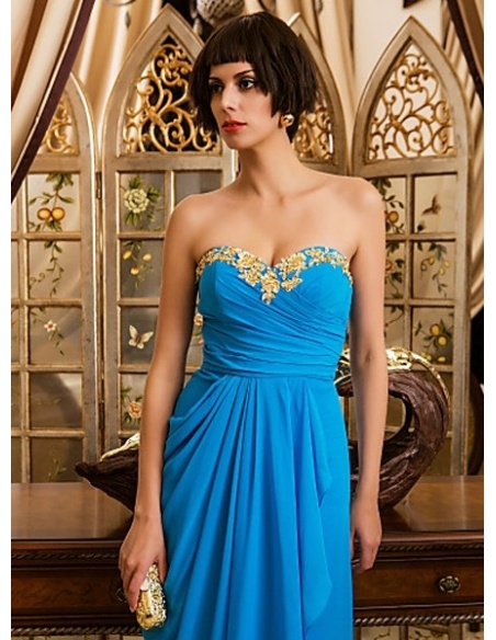 JULIE - Evening dresses Cheap Sheath/Column Floor length Chiffon Sweetheart Occasion dress