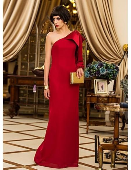 RITA - Evening dresses Cheap Sheath/Column Floor length Chiffon One Shoulder Occasion dress