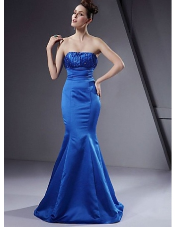 SUSIE - Bridesmaid dresses Cheap Trumpet/Mermaid Floor length Satin Strapless Wedding party dress