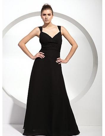 SYLVIA - Bridesmaid dresses Cheap A-line Floor length Chiffon V-neck Wedding party dress