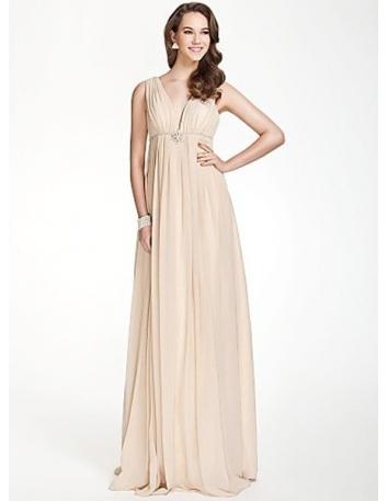 CORINNA - Bridesmaid dresses Cheap A-line Floor length Chiffon V-neck Wedding party dress