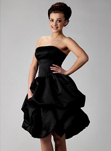 b227f6771d5 Bridesmaid dresses Cheap A-line Knee length Satin Strapless Wedding party  dress