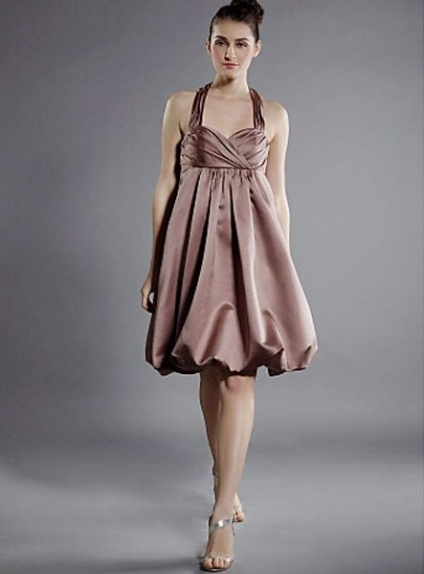 54de716b124e Bridesmaid dresses Cheap A-line Knee length Satin Halter Wedding party dress