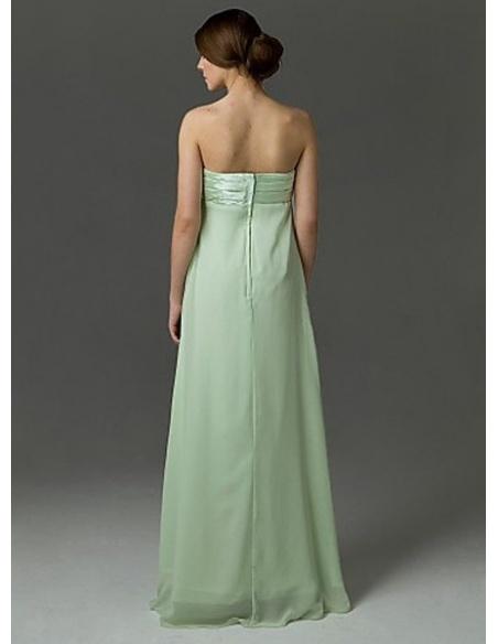 AIMEE - Bridesmaid dresses Cheap Sheath/Column Floor length Chiffon Strapless Wedding party dress