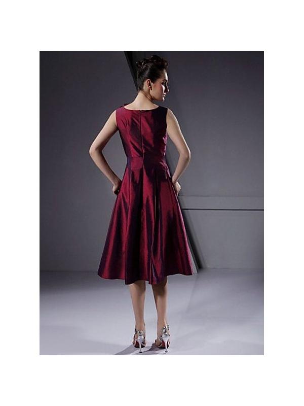 Bridesmaid dresses Cheap A-line Knee length Taffeta Low ...