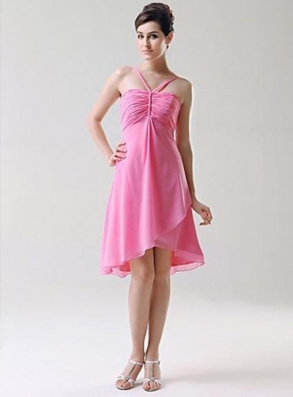 TESS - Bridesmaid dresses Cheap A-line Knee length Chiffon Strapless Wedding party dress