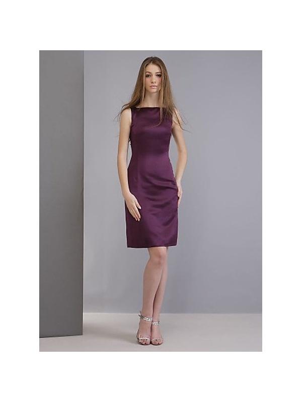 Bridesmaid dresses Cheap Sheath/Column Knee length Satin ...