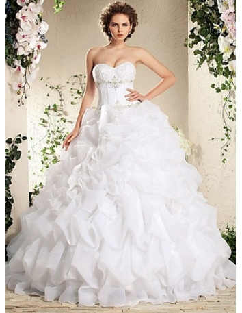 BABETTE - A-line Ball Gown Floor length Organza Wedding dress