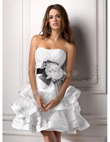 FRIEDA - Short Strapless Cheap Tulle Wedding dress
