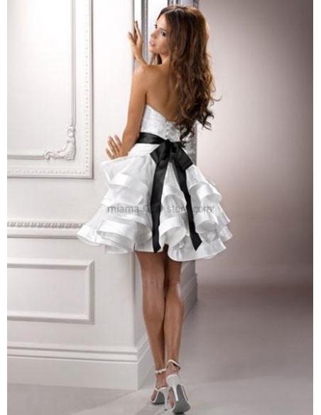 FRIEDA - Short Strapless Cheap Tulle Wedding dress
