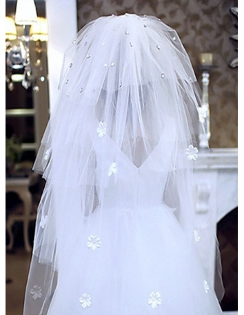 Four layers Cathedral Wedding veil