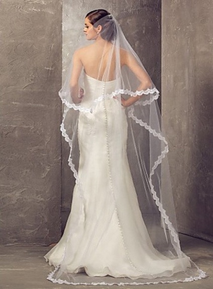 Two layers Cathedral Wedding veil