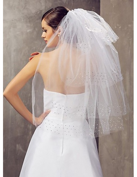 Four layers Elbow Wedding veil