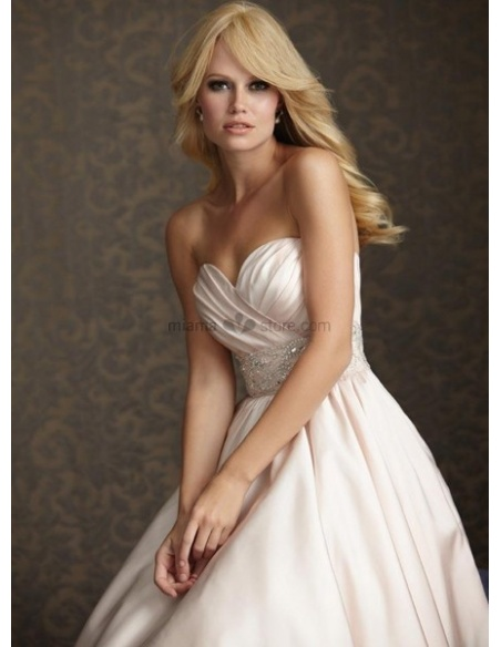 LISA - Sweetheart A-line Empier waist Cheap Chapel train Taffeta Wedding dress