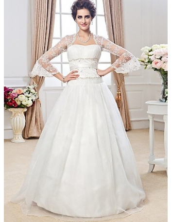 ROSE - A-line Ball Gown Floor length Tulle Lace Wedding dress